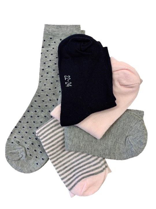 0572c7e8 Name it, Nmftilde mini 5 par rosa/grå sokker - Knerten og Karoline ...