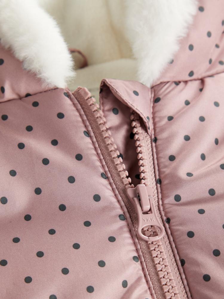 Name it, Nmfmaria gammelrosa jakke med prikker Knerten og